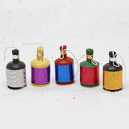 Party Poppers – 72 count. Assorted Colors